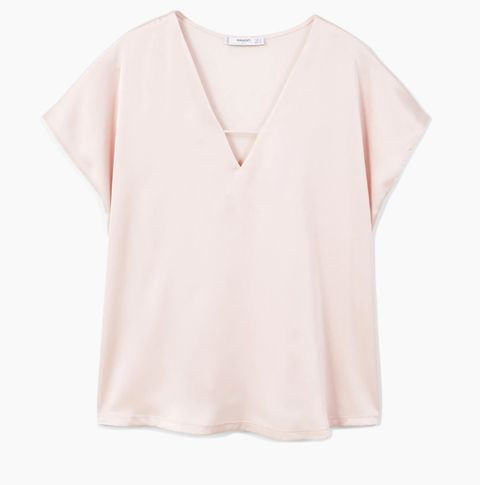 Clothing, White, Sleeve, Pink, Neck, T-shirt, Blouse, Outerwear, Collar, Top,