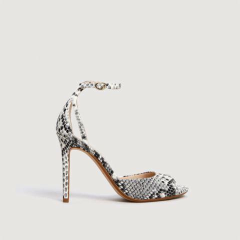 Footwear, High heels, Sandal, Shoe, Slingback, Basic pump, Leg, Court shoe, Fashion accessory, Silver,