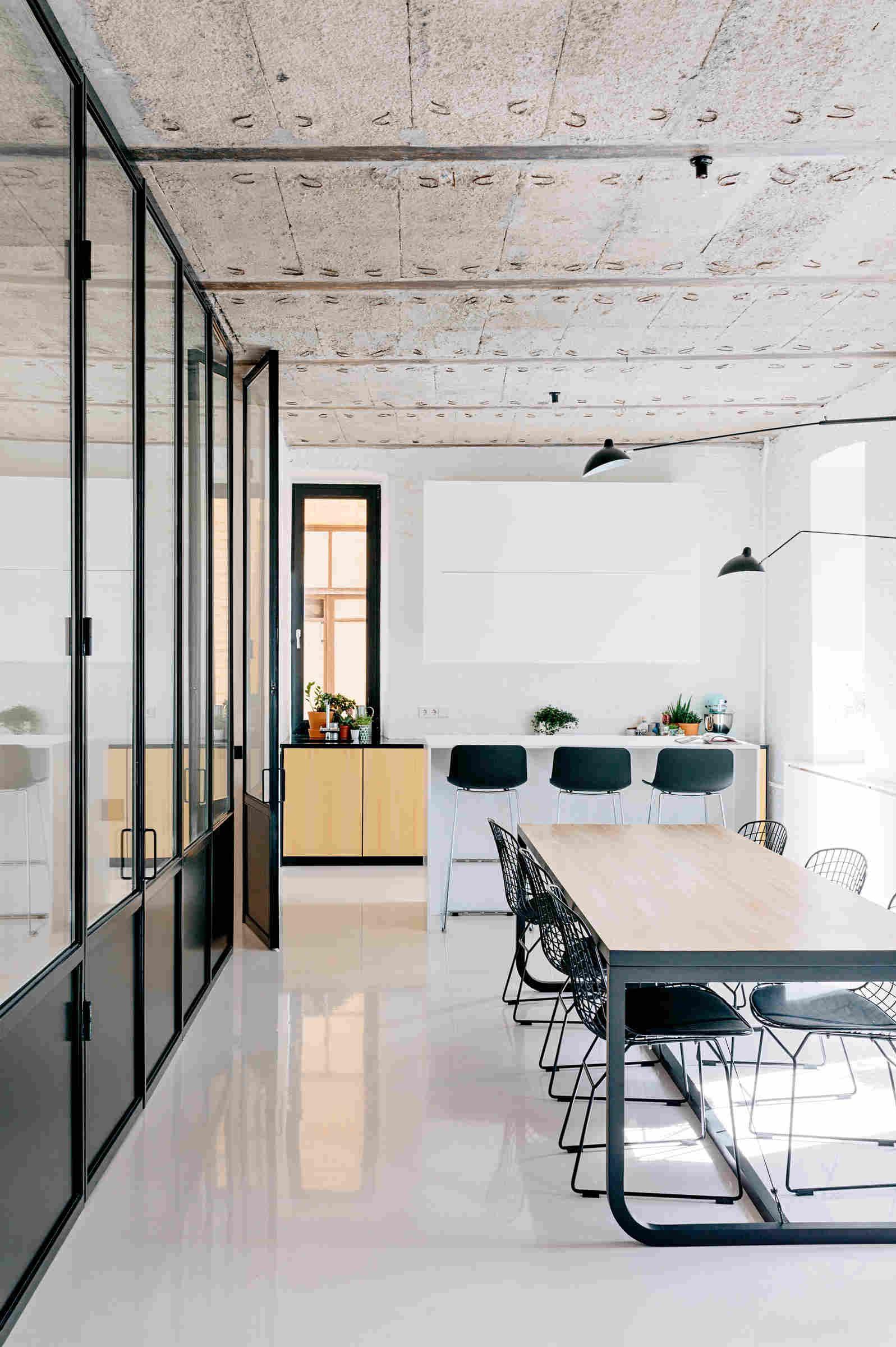 Separador de ambientes en la cocina