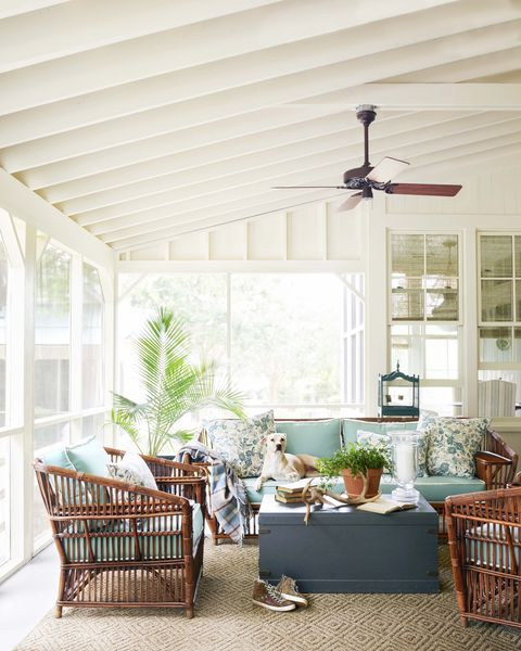 82 Best Front Porch Decorating Ideas, Screened In Porch Furniture Set