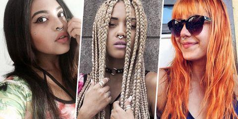 Hair, Face, Hairstyle, Eyebrow, Blond, Nose, Eyewear, Lip, Beauty, Hair coloring,