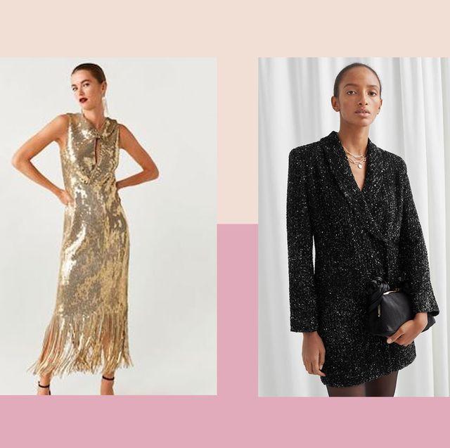 Clothing, Dress, Fashion model, Day dress, Fashion, Formal wear, Cocktail dress, Fashion design, Neck, Pattern,