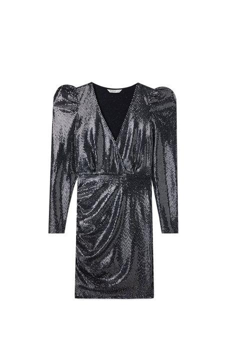 Clothing, Dress, Black, Robe, Cocktail dress, Day dress, Sleeve, Outerwear, Little black dress, Neck,