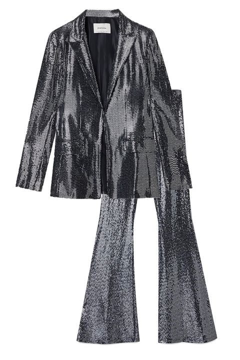 sequin suit - new years eve party outfit