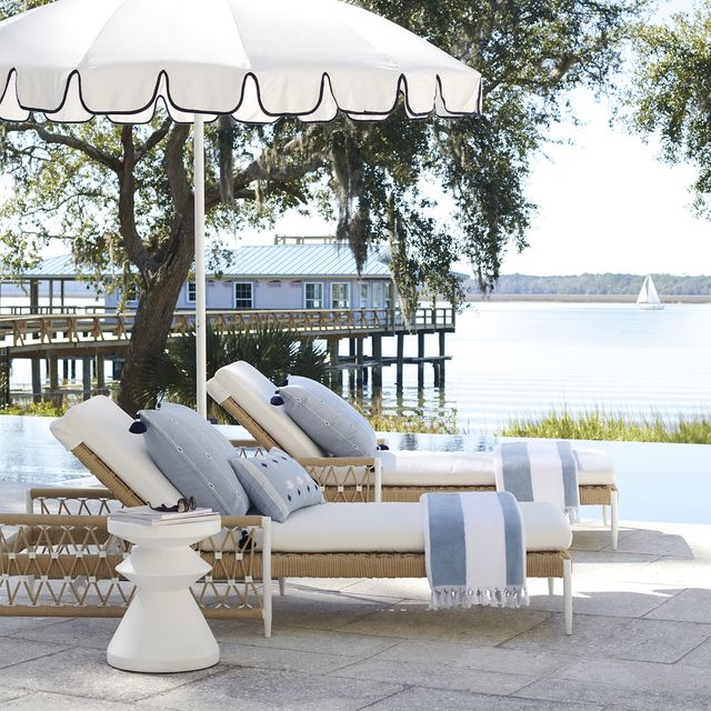 serena and lily turkish towels on chaise lounges
