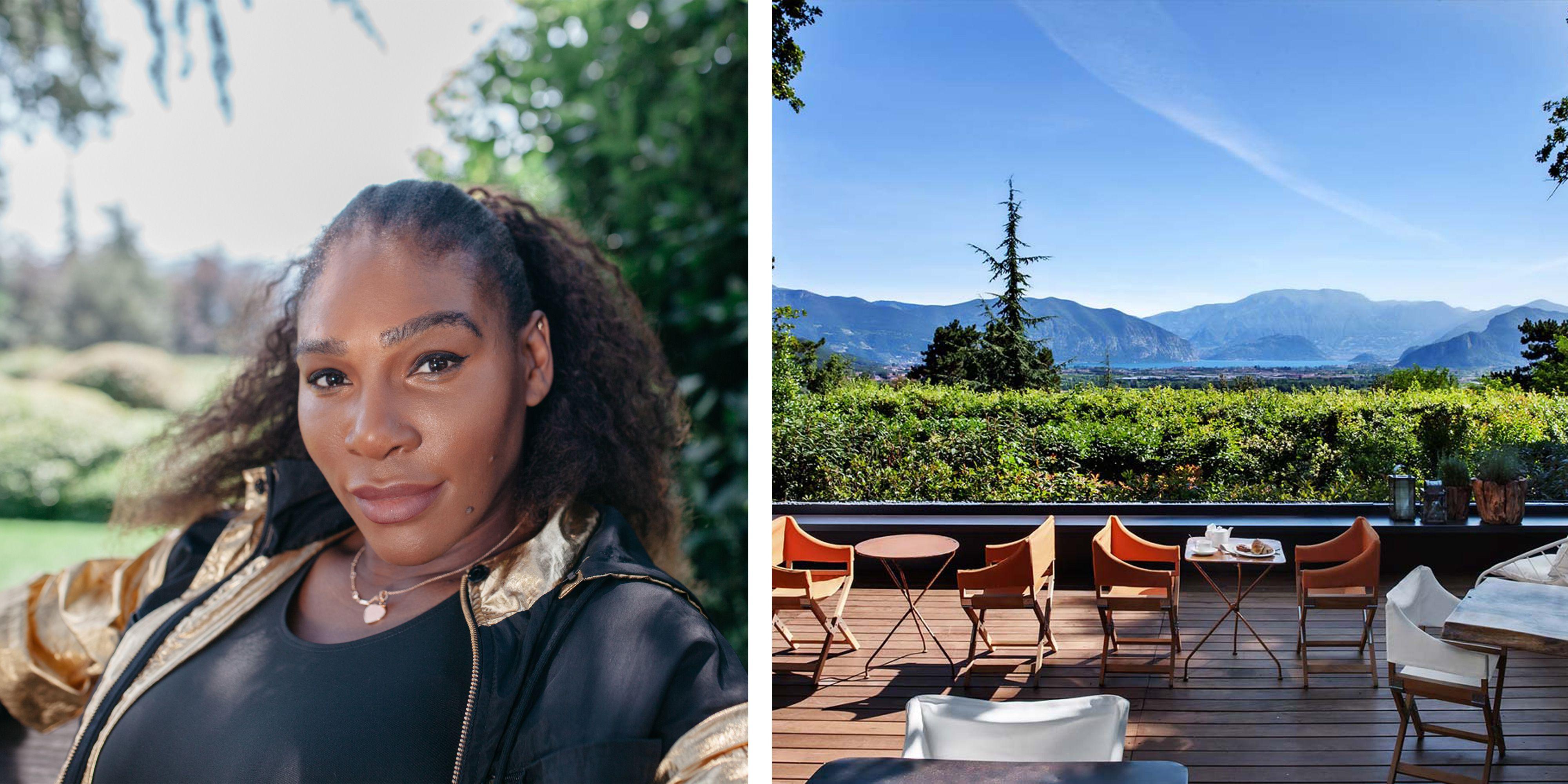 Serena Williams holiday