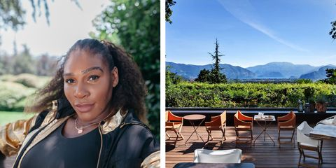 Serena Williams holiday