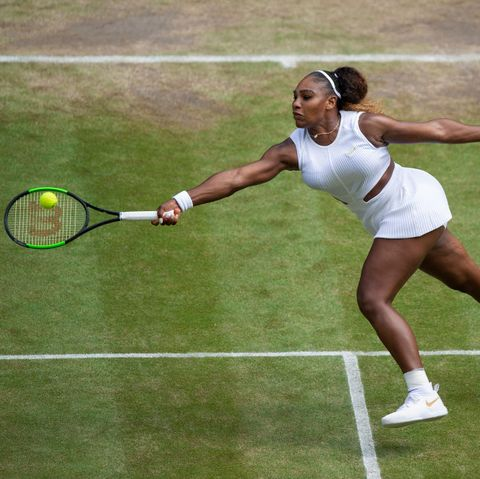 Serena Williams Cooled Down on a Bike in Between Wimbledon Matches