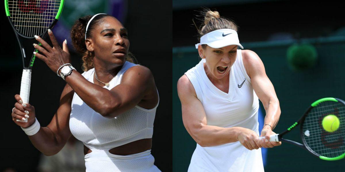The Wimbledon Women's Singles Final Between Serena Williams and Simona Halep