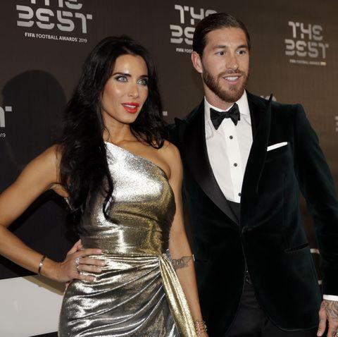 Pilar Rubio y Sergio Ramos en la Gala BEst Soccer Fifa 2019