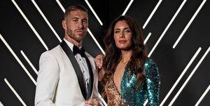 Sergio Ramos y Pilar Rubio, en la gala FIFA