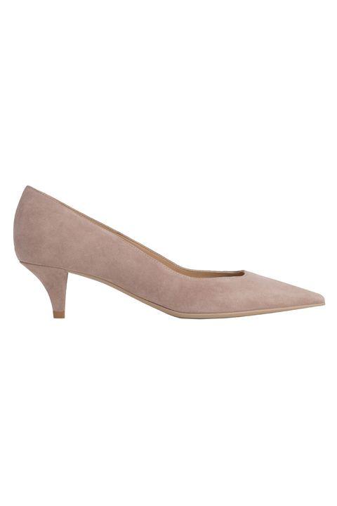Footwear, Shoe, Court shoe, Beige, Leather,