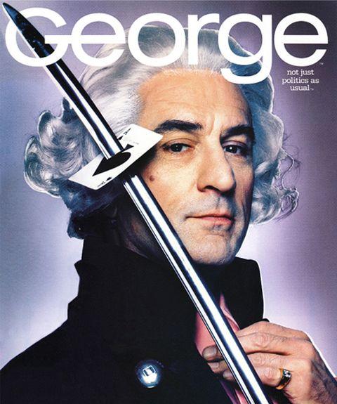 george washington robert de niro george magazine cover