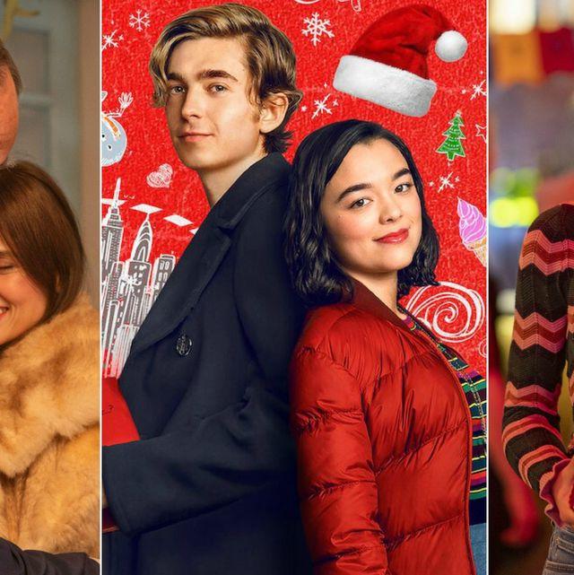collage de imágenes de días de navidad, dash y lily y home for christmas de netflix