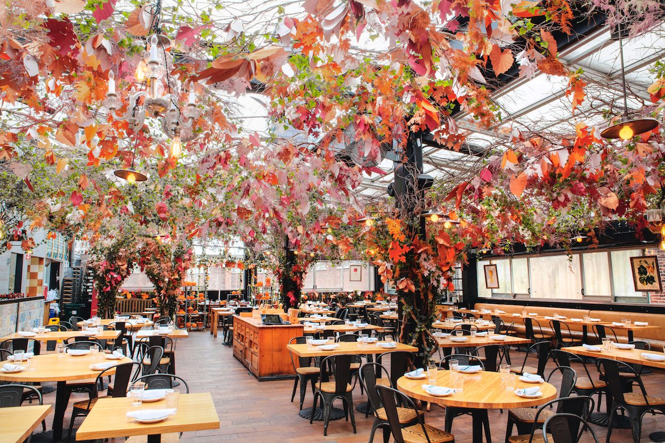 You've Got to See How Eataly's Rooftop Restaurant Transformed Itself For Fall