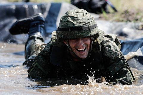Stage 2 of Seaborne Assault competition as part of 2019 International Army Games in Kaliningrad Region