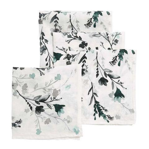 Servilletas de papel con flores