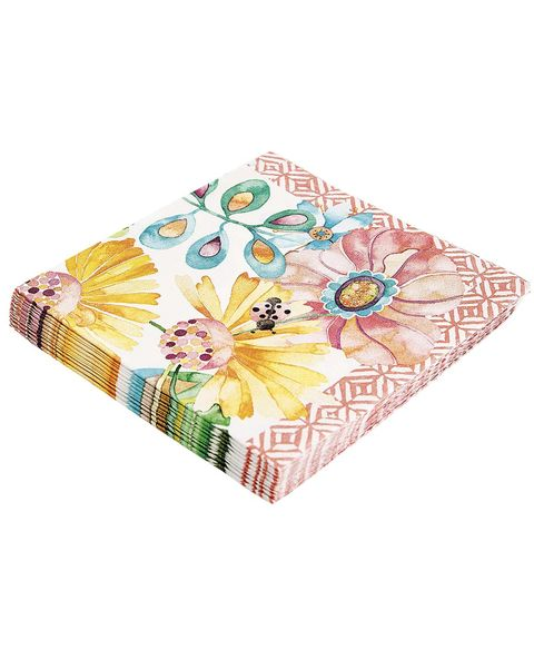 Servilletas de papel de flores