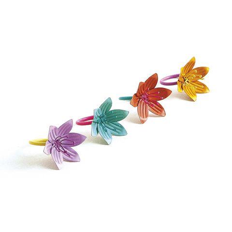 Servilletero de hierro con forma de flor