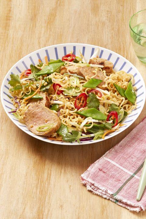 sesame pork noodle salad