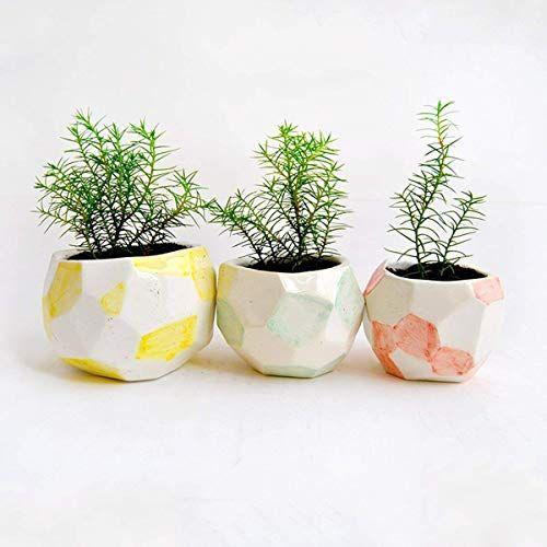 Set de 3 maceteros de cerámica