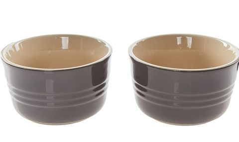 Set of Two Dark Grey Ramekins, Le Creuset