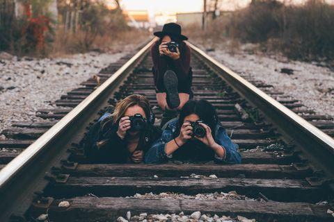 Track, Transport, Friendship, Sky, Photography, Fun, Stock photography, Railway, Love,