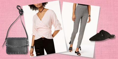Clothing, Pink, Fashion, Blazer, Shoulder, Outerwear, Trousers, Footwear, Leggings, Neck,