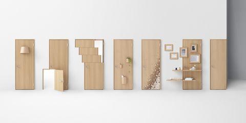 Los 7 conceptos de una simple puerta de madera, por Nendo