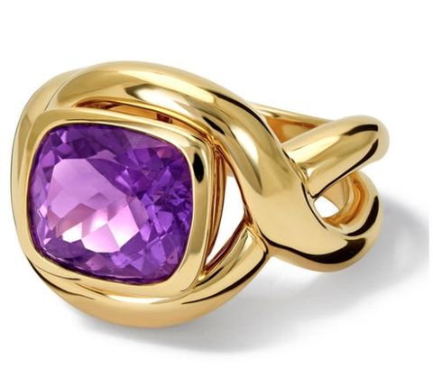 Amethyst, Jewellery, Gemstone, Ring, Fashion accessory, Product, Purple, Yellow, Violet, Engagement ring,