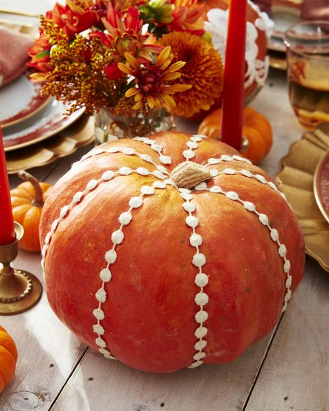 trim decor pumpkin