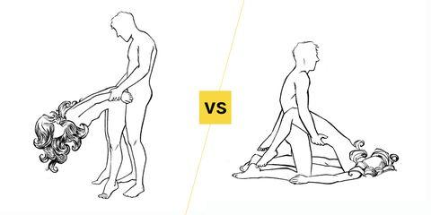 Faceoff sex position