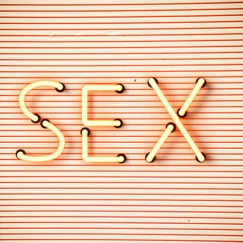 sex word  written in lightbox