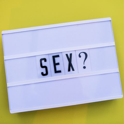 sex word  written in lightbox yellow background