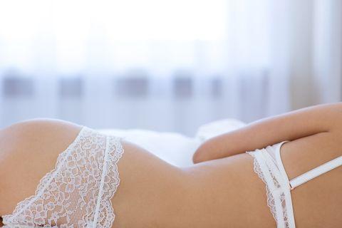 Sexy female body in lingerie