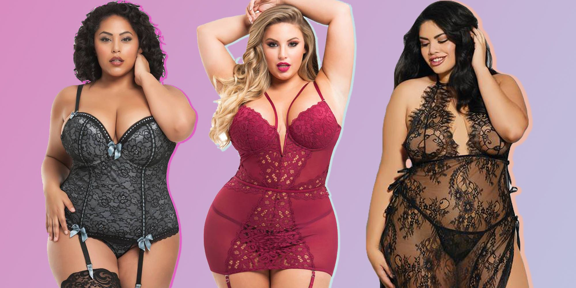 Sexy plus size lingerie women