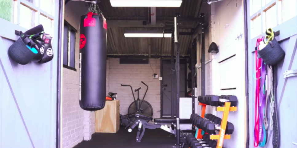 A Bodybuilder Converted His Garage Into a Home Gym
