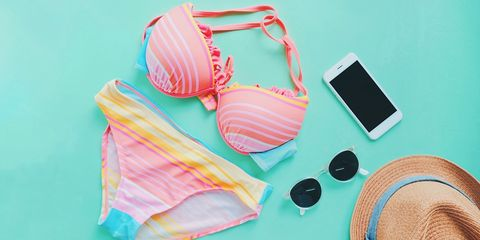 Clothing, Bikini, Brassiere, Swimwear, Pink, Undergarment, Lingerie, Briefs,