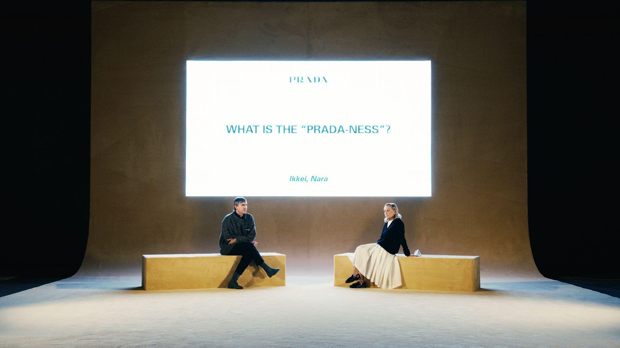 Il clou della sfilata Prada è stato il dibattito dopo lo show