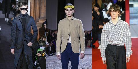 Fashion, Fashion model, Runway, Street fashion, Fashion show, Event, Human, Outerwear, Headgear, Eyewear,