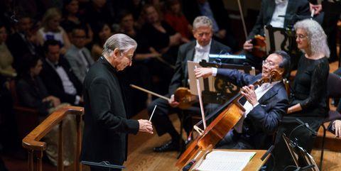 Michael Tilson Thomas and Yo-Yo Ma at San Francisco Symphony
