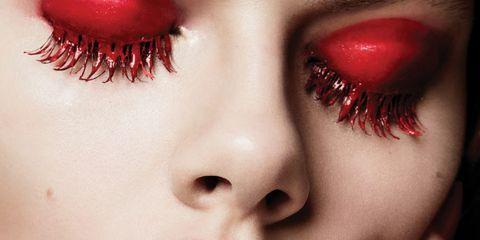 Lip, Face, Red, Nose, Beauty, Close-up, Skin, Mouth, Eye, Eyelash,
