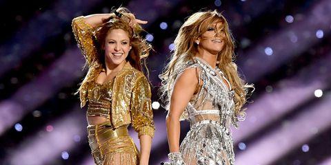 Shakira y Jennifer Lopez, en el medio tiempo del Super Bowl 2020.