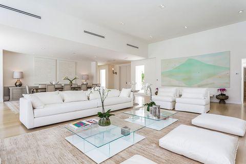Living room, Furniture, Room, Property, Interior design, Floor, Building, Real estate, House, Table,