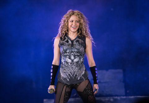 Shakira en concierto en Nueva York.