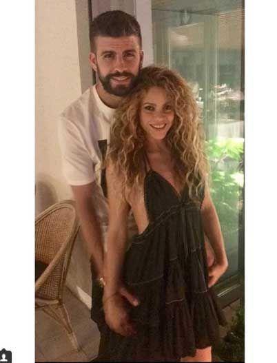 Shakira y Gerard Piqué en una fotografía de Instagram