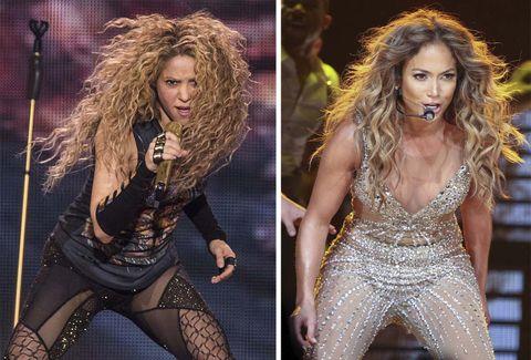 Shakira y JLo, duelo de divas en la 'Super Bowl'