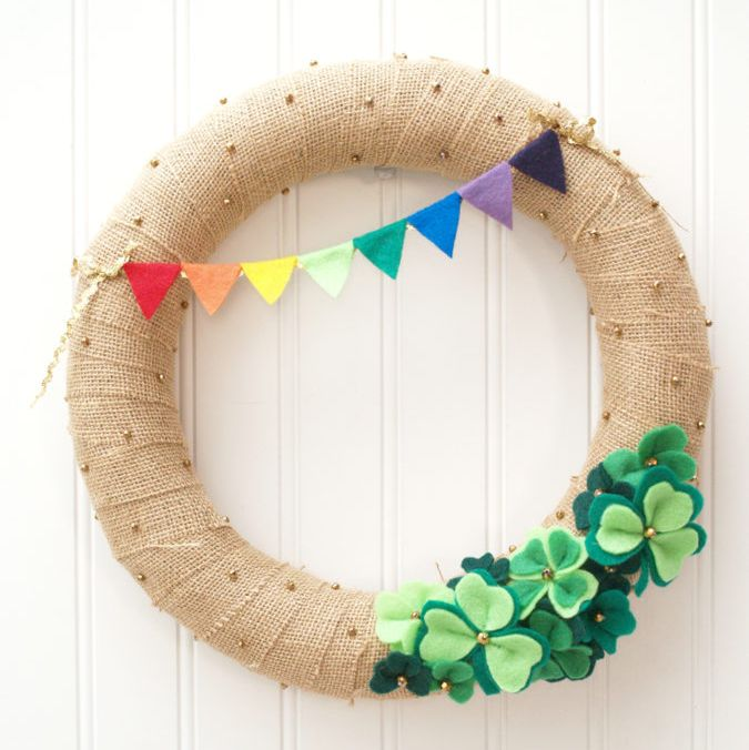 Shamrock Wreath - St. Patrick's Day Wreaths