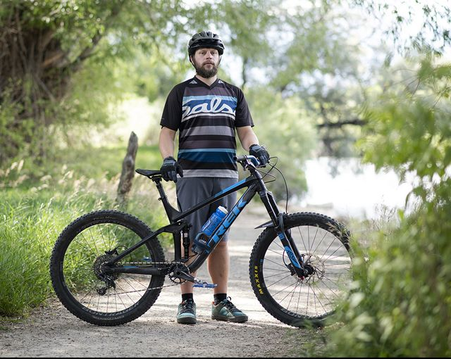 shannon harness pauses on a bike trail in salida, colorado, on aug 9, 2020 harness owed $80,232 after two surgeries he received for appendicitis while uninsured — the second surgery was to correct a complication from the first rachel woolf for khn