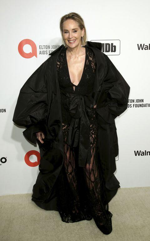 Sharon Stone en la fiesta de Elton John tras los Oscar 2020